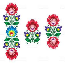Image result for polish folk art flowers