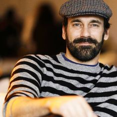 I'm pretty sure this is Jon Hamm, off-camera and off-season. I must say, he looks very nice when he's very. Moustache, Beard No Mustache, Jon Hamm, Great Beards, Awesome Beards, Mustache Styles, Daddy, Beard Love, Hairy Chest