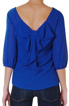 Bow back blouse  http://rstyle.me/n/ea2munyg6