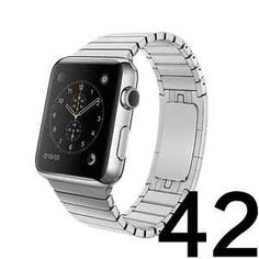 LDFAS Apple Watch Band 42mm Stainless Steel Link Bracelet - - Silver Color New  | eBay