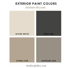 Ideas Exterior House Paint Color Combinations With Stone White Trim For 2019 - Home & DIY Exterior Paint Schemes, House Paint Exterior, Exterior House Colors, Exterior Paint Colors For House With Stone, Exterior Design, Exterior Paint Combinations, Stucco Colors, Cafe Exterior, Exterior Shutters
