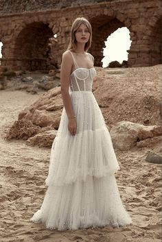 boho wedding gown, Dana Harel 2019 Wedding Dresses - Morning Star Bridal Collection Ready to feast your eyes on some amazing, ultra-swoonworthy wedding dresses? Yep, lets go – today we're putting the spotlight on Dana Harel. Wedding Dress Empire, Boho Wedding Gown, Tulle Wedding, Dream Wedding Dresses, Bridal Dresses, Maxi Dresses, Wedding Dress Corset, Beaded Wedding Dresses, Bridal Corset