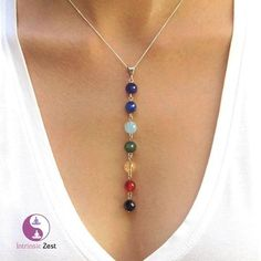 Our Seven Chakra Stone Healing Pendant   Our beautiful Chakra Pendents are made up of 100% natural stone beads. Each Chakra Pendent is placed under the sun to activate the stones.  List of Natural Beads Turqiouse Jasper Obsidian Carnelian Aventurine Lapis Lazuli Red Jasper Amethyst Jade