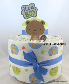 Baby diaper cake Baby shower decoration by MsCarlasBabyCakes