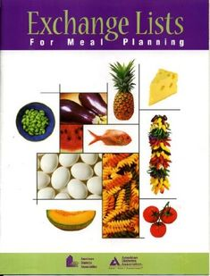 Exchange Lists for Meal Planning by American Diabetes Association 2003 ADA Healthy Recipes For Diabetics, Diabetic Recipes, Diet Recipes, Diabetic Foods, Low Glycemic Index Foods, Low Glycemic Diet, Diabetic Meal Plan, Pre Diabetic, American Diabetes Association