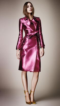 Bright Metallic Trench Coat | Burberry - I love this