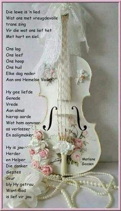 I have no idea what this says but the violin is so pretty.