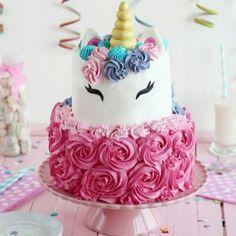 Photo credit: Amazing Unicorn Cake 466 Source by Unicorn Cake Design, Diy Unicorn Cake, Unicorn Cake Pops, Unicorn Rainbow Cake, Unicorn Party, Happy Birthday Cakes, Birthday Cake Girls, Unicorn Birthday Cakes, Birthday Cake Designs