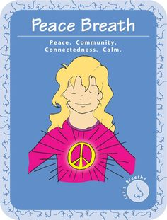 Practicing Peace Breath to help children cope with tragic news and ease emotional distress