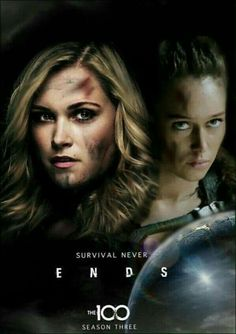 The 100 Poster, Clarke And Lexa, The 100 Clexa, Eliza Taylor, Alycia Debnam Carey, Fear The Walking Dead, Lgbt, Movie Posters, Banks