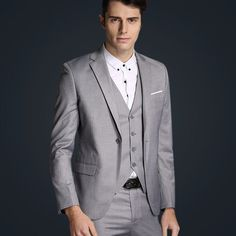 Jacket + vest + pants new 2015 men's fashion brand of high-end wedding dress high-quality goods Blazer Suits Male business Suits