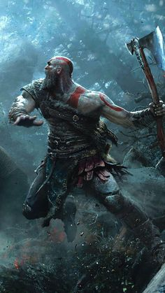 Kratos God of War - Video Games - Ideas of Video Games - Kratos God of War Kratos God Of War, Vikings, Good Of War, Marvel, Video Game Art, Video Games, Viking Power, Tableau Star Wars, Gaming Wallpapers