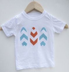 Boys or Girls Chevron Surf Board Onesie  by VeeSewMadeThat on Etsy, $19.95
