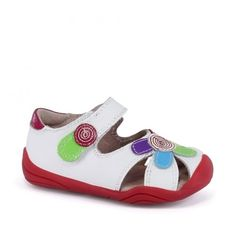 Sandale fete - Daisy White Multi - pediped Mary Janes, Daisy, Spring Summer, Sneakers, Girls, Shoes, Fashion, Sandals, Trainers