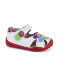 Sandale fete - Daisy White Multi - pediped