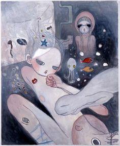タカノ綾 -Aya Takano- Superflat artist, originally from Saitama Aya Takano, Superflat, Body Drawing, Sketchbook Inspiration, Japanese Artists, Art Inspo, Psychedelic, Illustration, Creepy