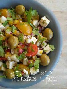 28 RECETAS DE ENSALADA GRIEGA | MURANO SPORTS Salad Recipes, Potato Salad, Salads, Veggies, Scott Jurek, Potatoes, Ethnic Recipes, Food, Queso