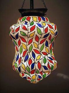 Colourful Leaves Vintage Lantern Vintage Lanterns, Light Fittings, Bedroom Lighting, Leaves, Color, Lighting Accessories, Light Fixture, Colour, String Lights For Bedroom