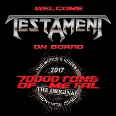 You have exactly 6 MONTHS to write your last will and TESTAMENT before getting into the pit on board 70000TONS OF METAL, The Original, The World's Biggest Heavy Metal Cruise!  #70000tons #metalcruise