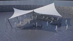 Tensionada Fidel Castro, Edgewater Park, Yoga Festival, Tensile Structures, Urban Planning, Atrium, Pavilion, Glamping, Canopy