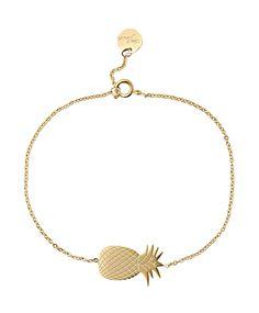 Süßes, kleines Goldarmband mit Ananas. #ananas #armband #gold