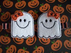 Cute Ghosts Halloween Felt Hair Clips Girls Hair Accessories