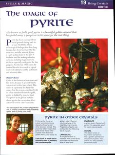 Mind, Body, Spirit Collection - The Magic Of Pyrite Minerals And Gemstones, Crystals Minerals, Rocks And Minerals, Stones And Crystals, Gem Stones, Crystal Magic, Crystal Grid, Reiki, Namaste