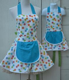 Mother and Daughter Aprons Mommy and Me Aprons Matching Aprons Grandma Apron Aunt Apron