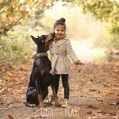 Cutie and the Beast #dobermanpinscher