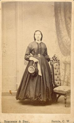 1860's~ love the hat and the hem
