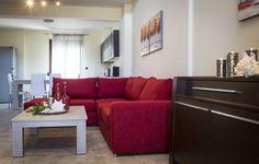 Nefeli Villas and Suites Beautiful Villas, Luxury Villa, Couch, Living Room, Modern, Furniture, Home Decor, Luxury Condo, Settee