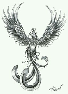 Another pheonix design for my thigh tattoo idea... the colours from the other pheonix picture added to this design would look mint.