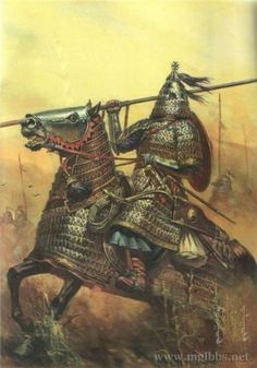 Mongol Heavy Cavalry 12th century.