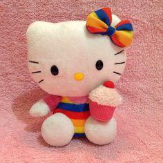 7e8b161ed4b Rainbow hello kitty with a cupcake~ water bottle for comparison. Tags   Sanrio plushy