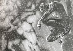 The Amazing SpiderMan Original Pencil Drawing By G.S print