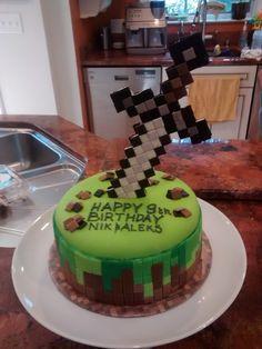 Minecraft round sword cake
