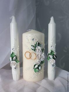 """Купить Семейный очаг """" Свежесть """" - белый, зеленый цвет, свадьба, свадебные аксессуары"""