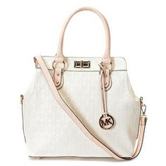 popular, new, amazing and pure handbag, you are worth to have one! Time flies! catch the tail of our youth and treat ourselves better:http://www.clearancemk.com/michael-kors-tote-white-top-leather-p-5371.html