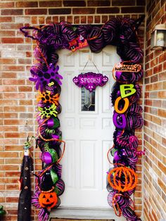my halloween mesh deco garland for my own door please like my page unique mesh - Deco Mesh Halloween Garland