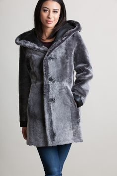 747df647d92 Spanish Merino Napa sheepskin offers a plush texture with button front  closure