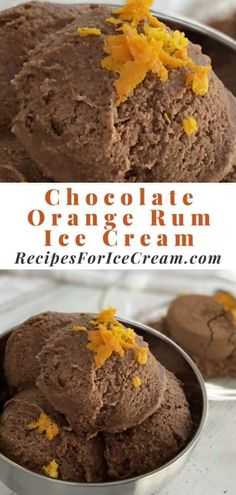 A hint of rum extract adds a yummy warmth of flavor to this chocolate orange ice cream! Easy-to-make and super creamy, this ice cream has a zesty orange flavor perfect for summertime savoring! Chocolate Orange Ice Cream, Heavy Whipping Cream, Soft Serve, Ice Cream Recipes, Whipped Cream, Rum, Artisan, Homemade, Breakfast