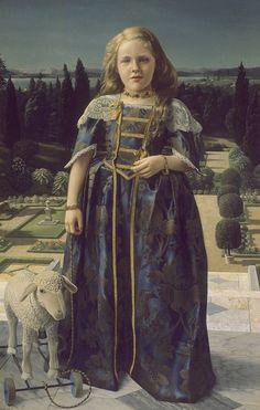 Карел Виллинк. Девочка в платье эпохи Ренессанса. 1946