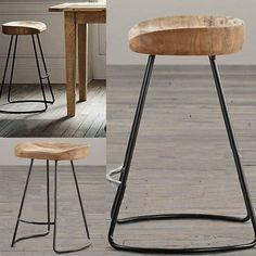 Top,The village of retro furniture,Vintage metal bar chair,anti rust treatment,Bar furniture sets,100% wood bar stool,wooden sofa stool