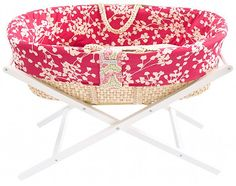 Moses basket & stand by Bebelicious. How adorable!