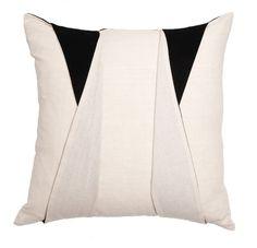 The Tuxedo Pillow is a part of Stone Textile's signature geometric pillow line | domino.com