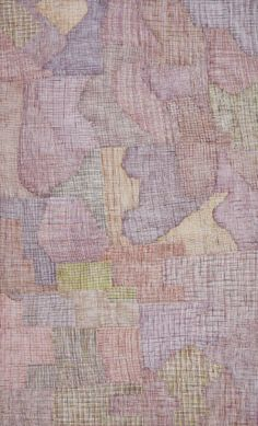 """Regina Wilson. Syaw, 2007. Acrylic on linen. Provenance: Durrmu Arts, NT - Cat.Ref.387. """"Regina Wilson was born in 1948 and is one of the founding members of the Peppimenarti community near Darwin (language group Ngangikurrungurr). Wilson is a skilled weaver using an exstensive array of weaving and stiching designs as taught to her by her maternal grandmother. She took up painting in the 1990s, continuing as a fine weaver of the unique string warrgarri (dilly bags) and other weavings from…"""