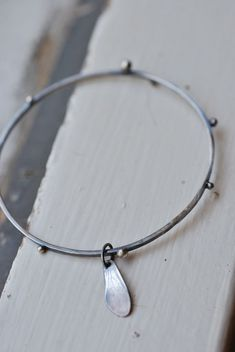 SALE Bee Wing Bracelet. Sterling silver. Carpenter Bee Wing. Dewdrops and Dimension.
