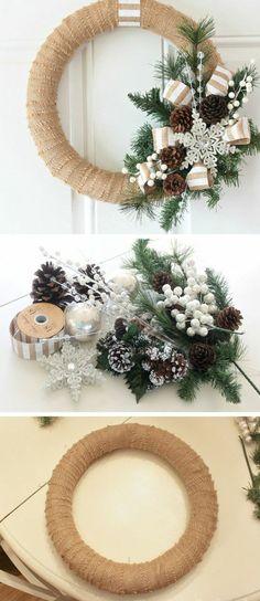 4 weihnachtendekoration selber machen adventskranz ideen zapfen