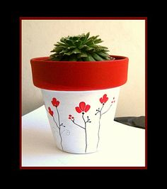 CUTE CLAY POT DECO