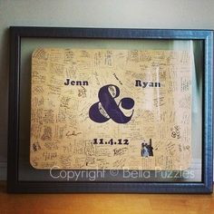 Your wedding guests will love this fun and modern guest book alternative. Custom made wood AMPERSAND Puzzle by Bella Puzzles™